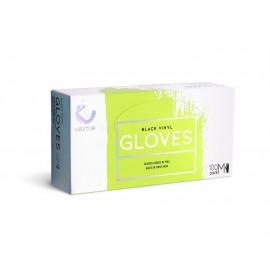 Bet CT Blk vinyl glove 100ct MED