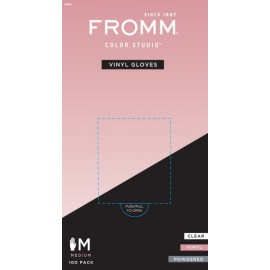 Fro Powdered Vinyl glove 100 MED
