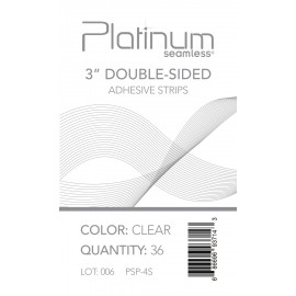 "Pla 3"" Dbl-Sided Adhes Strips(clr)"