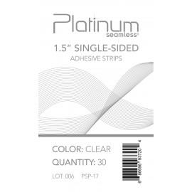 """Pla 1.5"""" Sin-sided Adhev Strips(clr)"""